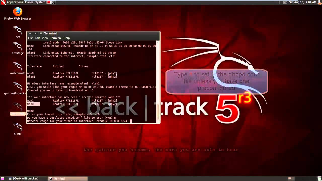 DRIVERS: BACKTRACK 5 R3 INTERFACE CHIPSET