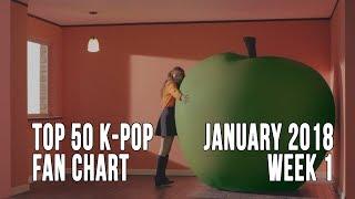Top 50 K-Pop Songs Chart - January 2018 Week 1 Fan Chart