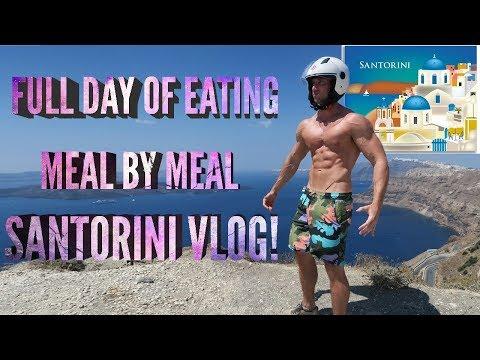 SHREDDING DIET | IIFYM Full Day Of Eating In SANTORINI