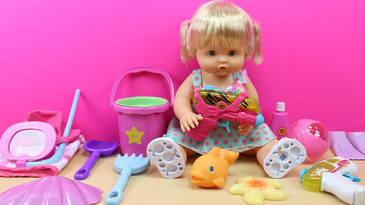 Bolso con accesorios de playa y piscina para la mu eca for Piscinas bebes