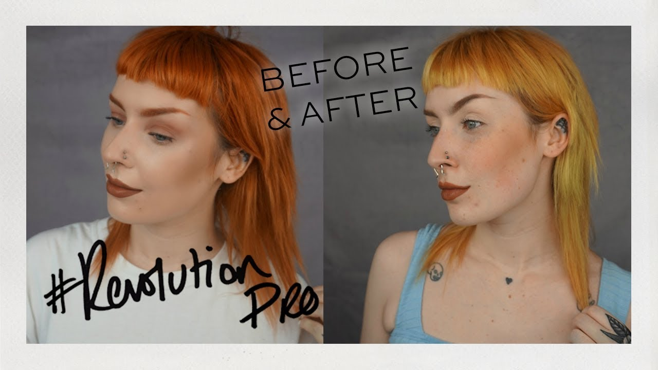 Revolution Pro New Hair Colour Remover Before After
