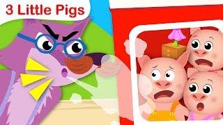 The 3 Little Pigs | Fairy Tales Kids Songs | Nursery Rhymes by Little Angel
