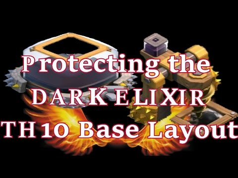 Video - PROTECTING THE DARK ELIXIR!!! TH10 BASE LAYOUT