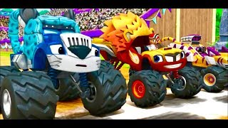 Вспыш и чудо машинки. Новые серии 2018 года про машинки для детей. blaze, monster machines. МаксТВ.