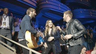 "Lady Antebellum Perform ""What If I Never Get Over You"" Amongst Fans"