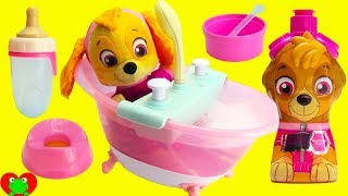 Paw Patrol Skye Deluxe Bath Tub Eats, Potty, Diaper, and Bath Time