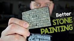 Better Stone Painting - Advanced Technique for Stone, Bricks, & Tile (Black Magic Craft Episode 109)