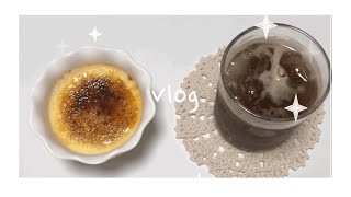 자취요리브이로그_된장찌개,치즈밥 ㅣ홈베이킹_크림브륄레ㅣ…