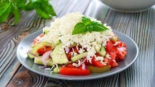 рецепт салата  Шопский салат