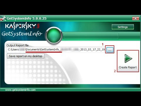 How To Create A Report File Using Getsysteminfo Utility - Youtube