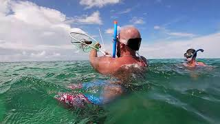DirtyBoat Lobster Diving in Islamorada