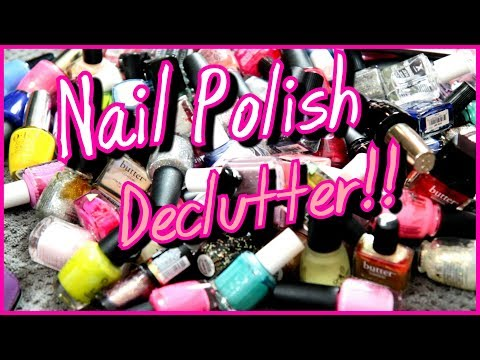 Nail Polish Declutter!! (1/3 of My Collection Decluttered!) | Lauren Mae Beauty