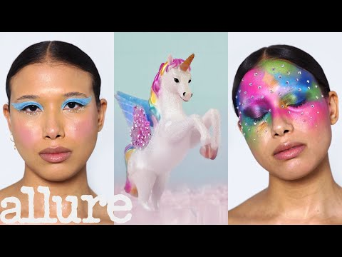 3 Makeup Artists Turn a Model Into a Unicorn | Triple Take | Allure