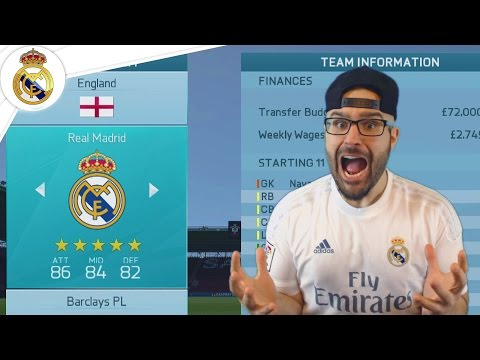 CRISTIANO RONALDO BACK TO ENGLAND - Real Madrid Career Mode FIFA 16 #01