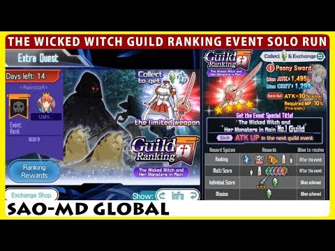 The Wicked Witch And Her Monsters In Rain - Guild Ranking Event Master+1 Sword Crit Solo (SAOMD)