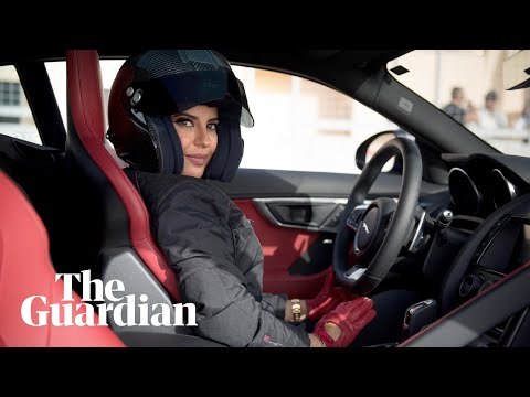 Saudi's first female racing driver takes a historic lap in a