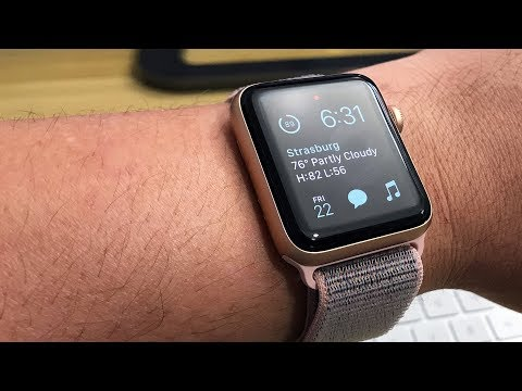 competitive price 7071d 49656 Apple Watch Series 3 (Gold 42mm w/ Pink Sand Sport Loop) Unboxing ...