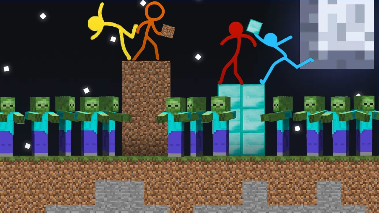 Stickman vs Minecraft Apocalypse Fireboy and Watergirl Cartoon 🔥Animation vs. Minecraft Shorts
