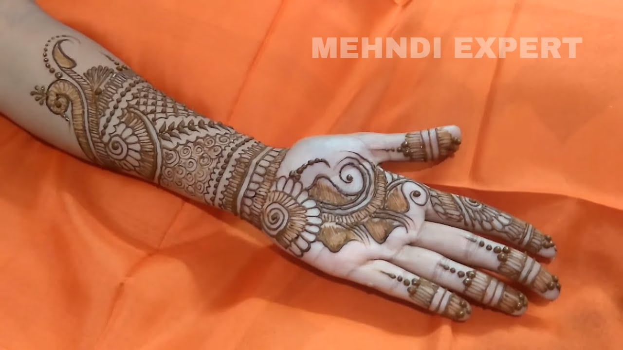Henna Or Mehndi : Latest indo arabic henna or mehndi design for all occassion step