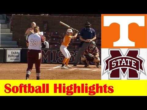 #17 Tennessee vs Mississippi State Softball Game 2 Highlights 5 5 2021