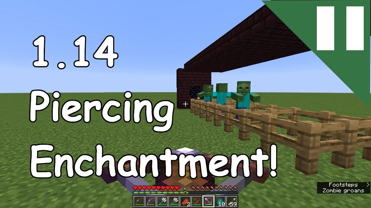 what does piercing in minecraft do