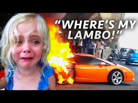 Top 10 MOST SPOILED KIDS With SUPERCARS! (Ungrateful Kids & Rich Brats On Video)