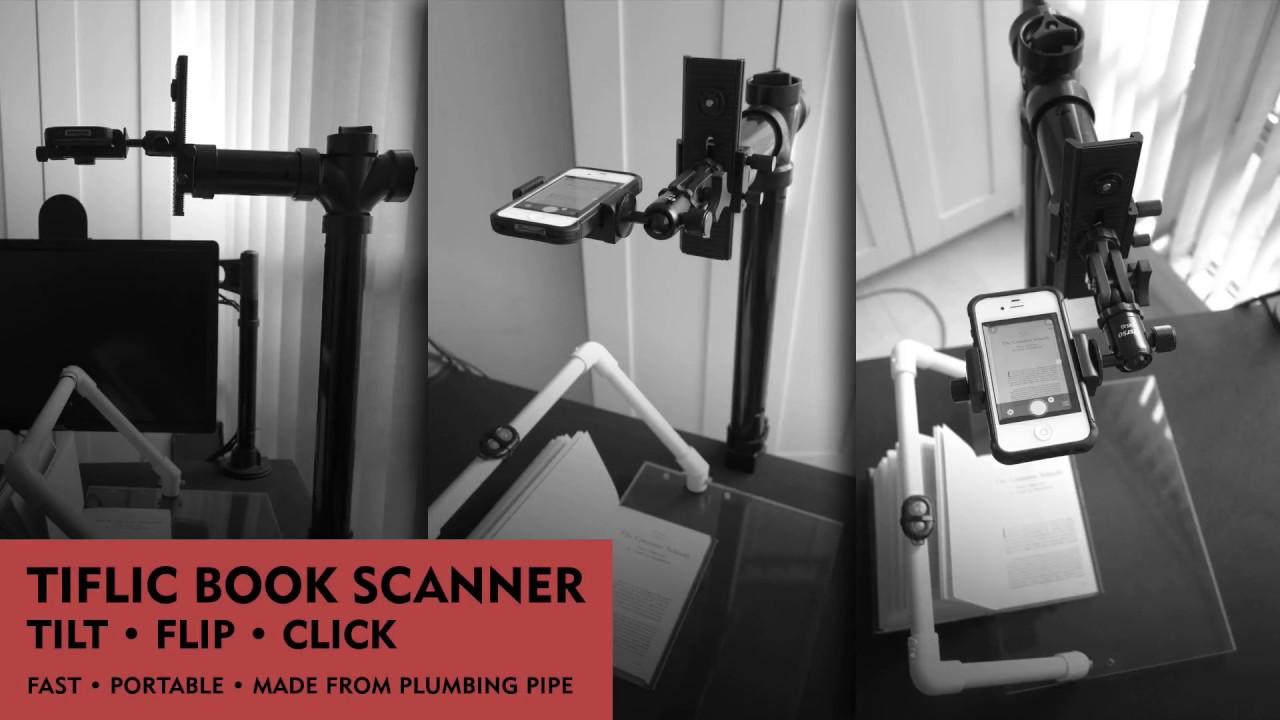 This Home Made Book Scanner Uses An Iphone Scans 24 Pages