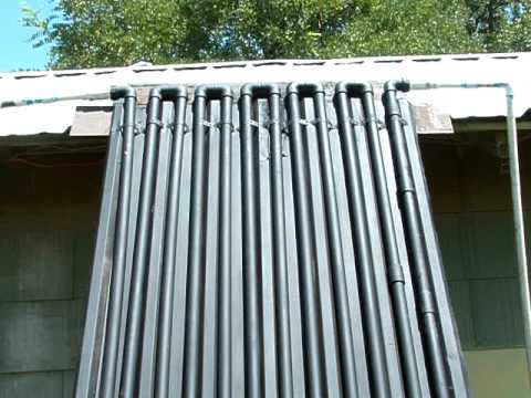 Diy Home Made Circulating Solar Water Heater Youtube