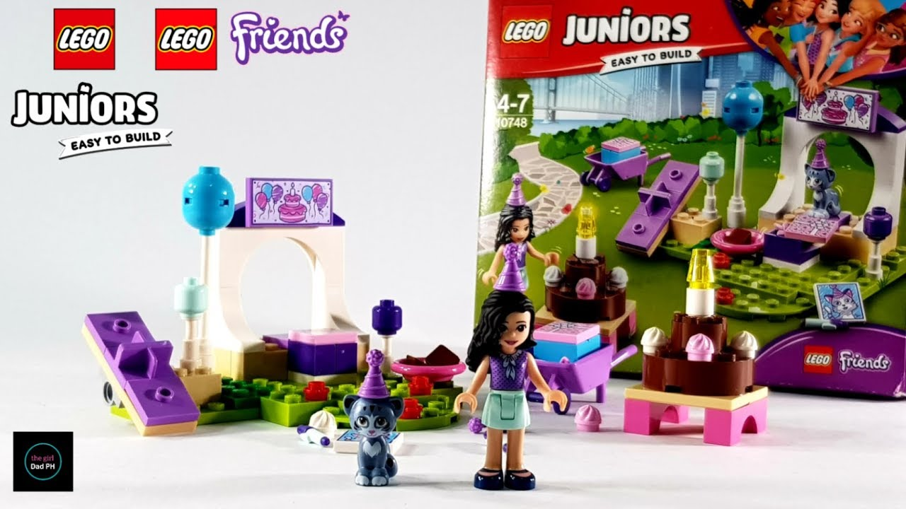 Lego Juniors Friends 10748 Emmas Pet Party 2018 Unboxing And Stop