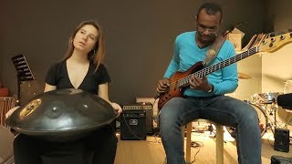 DYAS // Afro Blue - hangdrum and bass cover // Joséphine Chloé & Eric Delblond