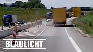 Überholmanöver extrem - Opel quetscht sich an LKW vorbei (Abenteuer Autobahn)