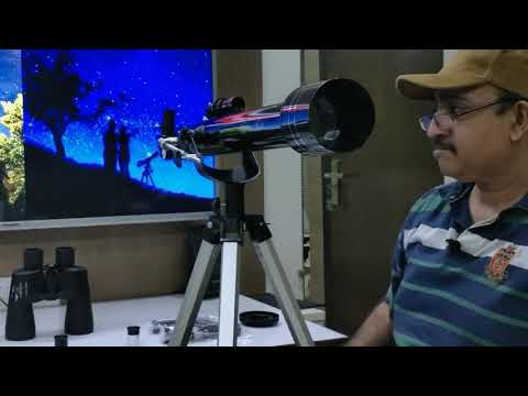Astronomy below rs 5000, 60mm refractor vs 10x50mm Binoculars,which is better, review in hindi