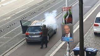Fusillade en plein centre ville d'Halle en Allemagne | AFP News