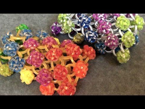 Rainbow Loom™ Button Cuff Charm Bracelet - Variation 2
