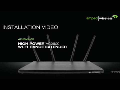 Amped Wireless Setup RE2600M ATHENA-EX High Power AC2600 Wi-Fi Range Extender