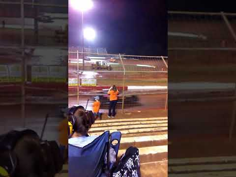 Talladega short track: double spin out