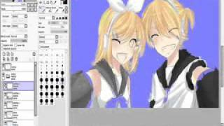 Download Kagamine Rin Len Speed Paint MP3 song and Music Video