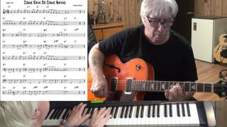 Come Rain Or Come Shine - Jazz guitar & piano cover ( Harold Arlen )