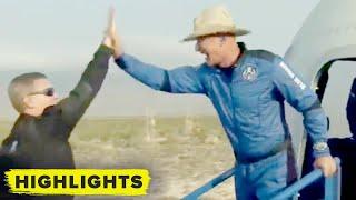 Watch Jeff Bezos and crew exit New Shepard capsule