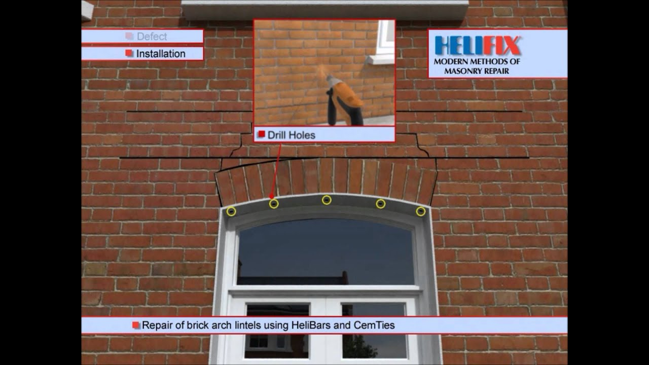 Brick Lintel Repair Using Helifix Helibeam System Youtube