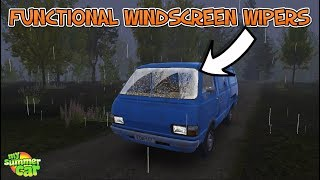 My Summer Car - Functional Windscreen Wipers & New Truck Engine Sound !!