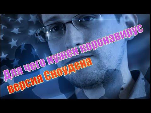 Для чего нужен коронавирус версия Эдварда Сноудена