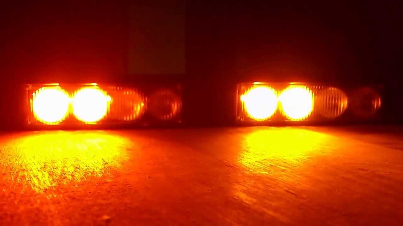 blitzmuster der led grill strobo blitzer orange 12w von