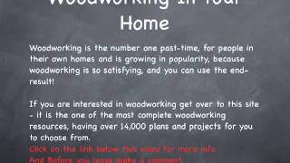 Woodworking - Woodworking In Your Home