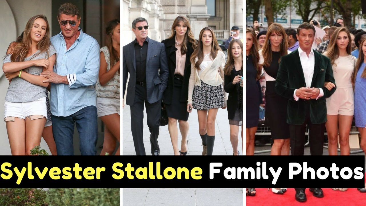 Actor Sylvester Stallone Family Photos With Wife ...