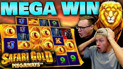 Safari Gold Megaways MEGA WIN - 9 Scatters from one €200 Megaways Wheel!