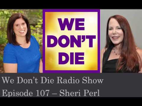 Episode 107 Minister/Author Sheri Perl talks EVP and Grief Healing on We Don't Die Radio Show