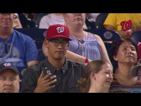 CIN@WSH: Nationals draft pick Dunning enjoys game