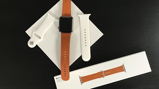 Apple Watch Series 2 + Saddle Brown Classic Buckle / Unboxing