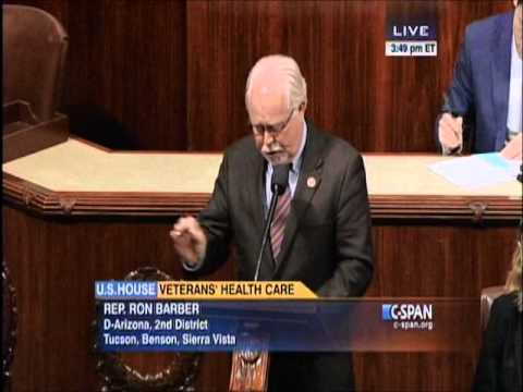 Rep. Barber Urges Passage of Bill to Improve Veterans